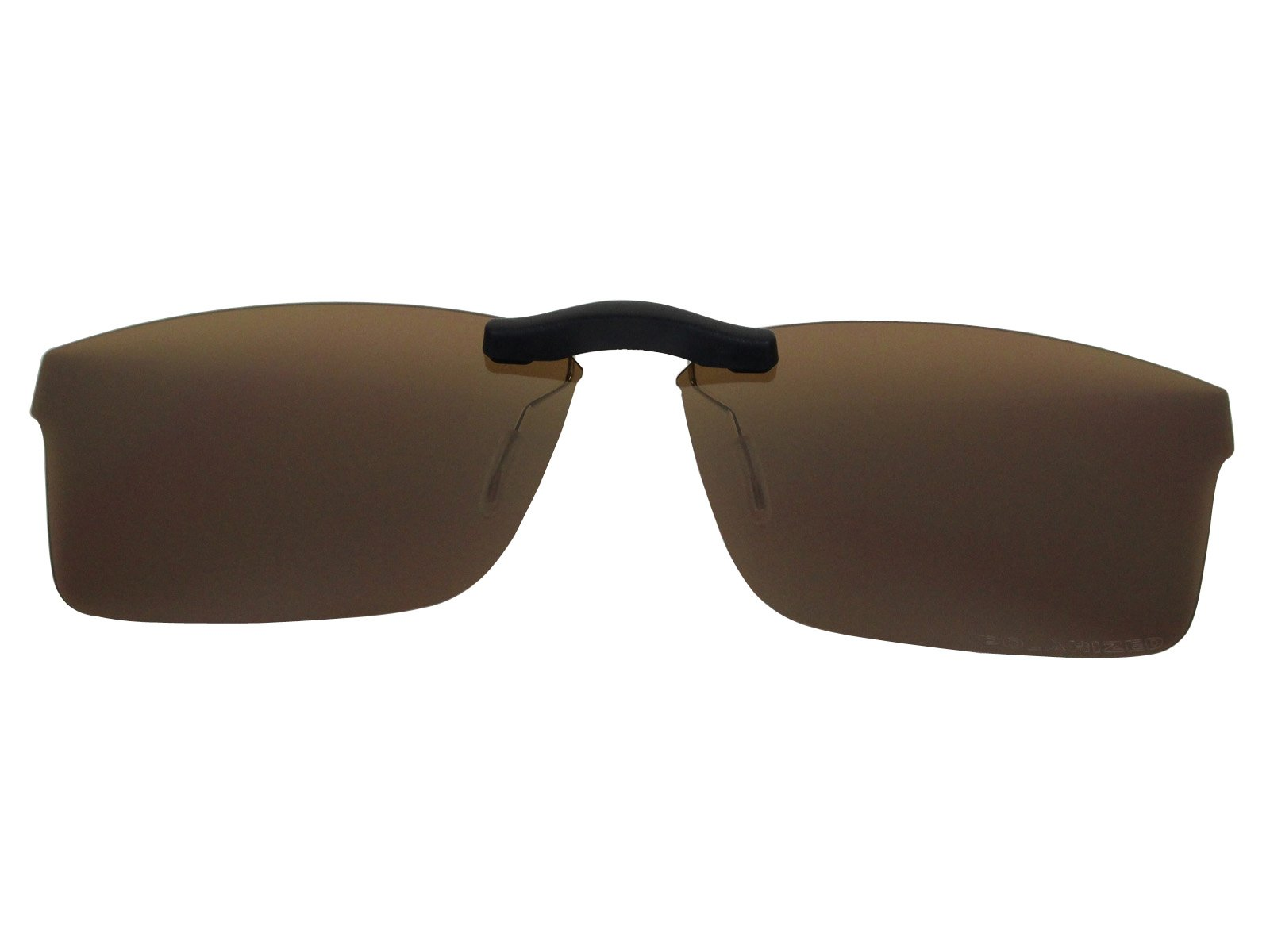 Custom Fit Polarized CLIP-ON Sunglasses For Ray-Ban RB8415 53X17 Brown
