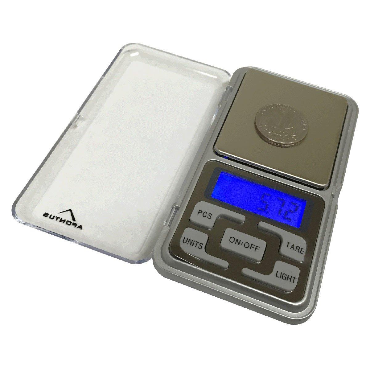 Amazon.com: Apontus Digital Pocket Jewelry Scale, Backlit Display ...
