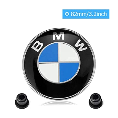 car sales BMW Emblems Hood and Trunk,BMW 82mm Logo Replacement + 2 Grommets for ALL Models BMW E30 E36 E46 E34 E39 E60 E65 E38 X5 X6 3 4 5 6 7 8 (82mm): Automotive