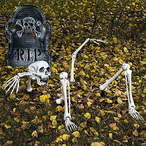 Skeleton In Ground (Halloween Skeleton Bones and Skull for Graveyard Ground Decoration,Halloween Decorations)