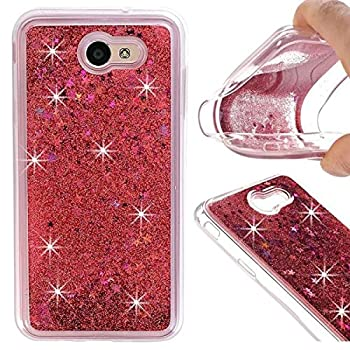 Galaxy A7 Case,Galaxy A7 2017 Case,DAMONDY 3D Moving Stars Bling Liquid Glitter Floating Dynamic Flowing Ultra Clear Soft TPU Case for Samsung Galaxy A7 2017 ONLY-pink