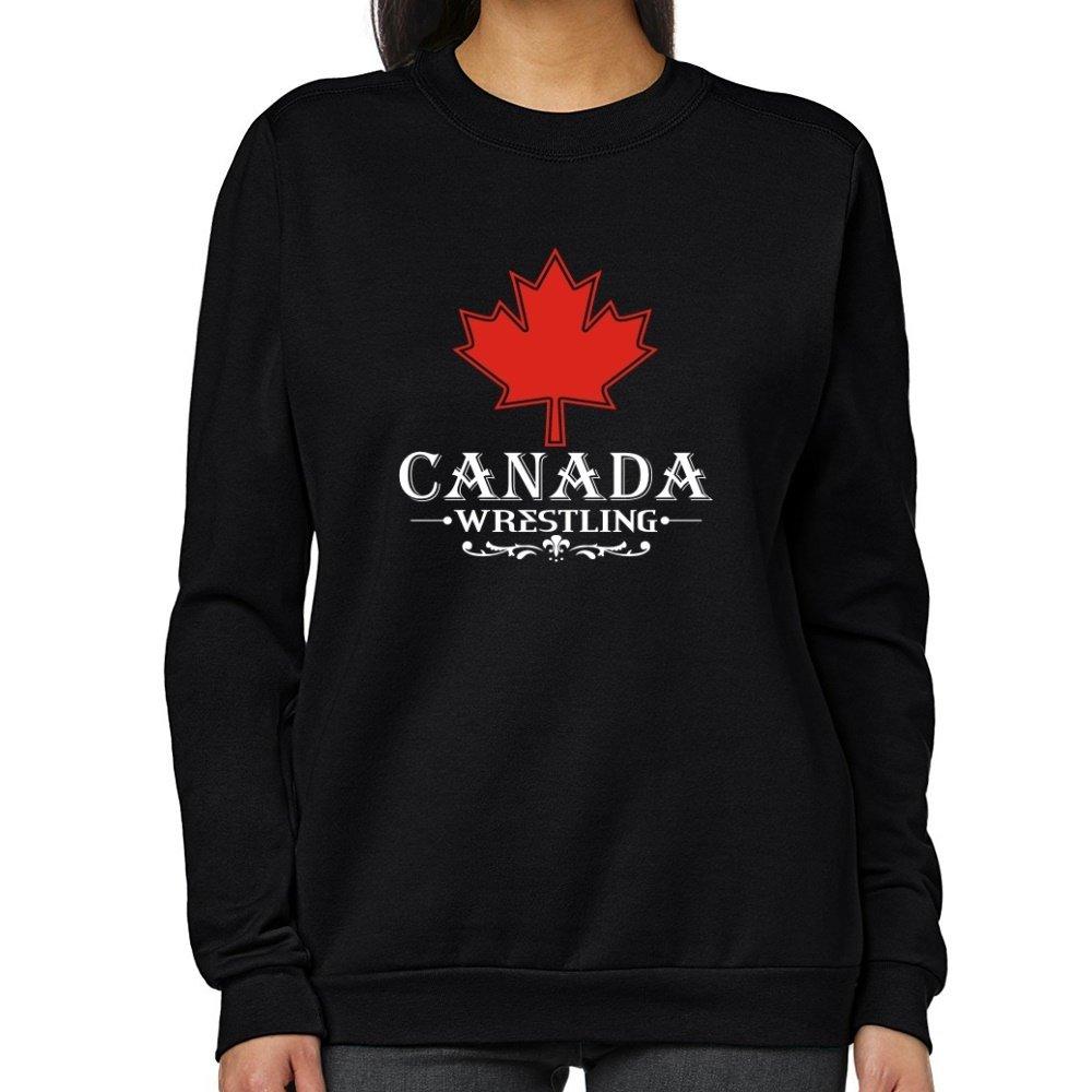 Teeburon MAPLE CANADA Wrestling Women Sweatshirt