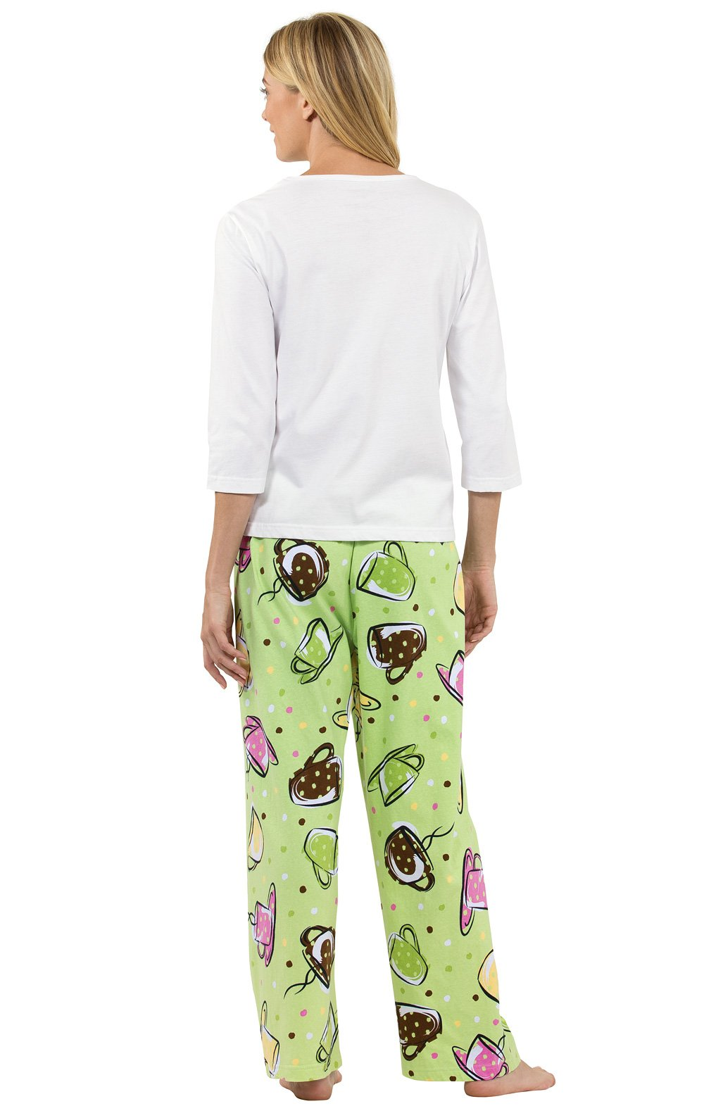 Pajamagram Cute Pajamas For Women - Cotton, I Need Coffee Print, Green -