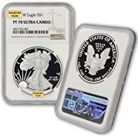 1986 W - Present (Random Year) 1 oz American Silver Eagle PF70 Ultra Cameo Coin NGC by CoinFolio $1 PF70UCAM NGC
