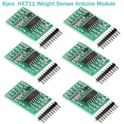 MakerHawk 6pcs HX711 Weight Sensor Arduino Module 24-bit Precision AD Module Dual-Channel for Arduino DIY