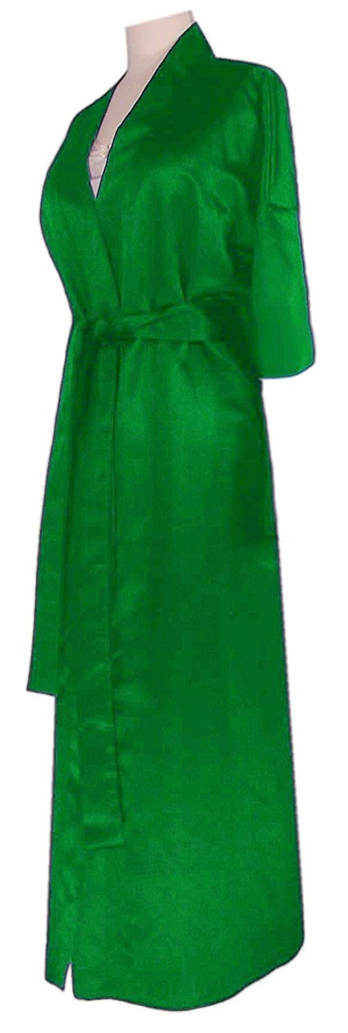 Plus Size Green Satin Supersize Womens Robe Sanctuarie Designs PSR-1289-GREEN