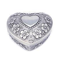 NKYSM scatola-regalo vintage europea portagioie a forma di cuore per collana anello orecchini