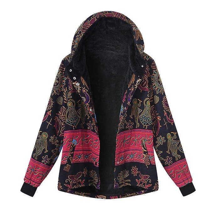 bd672f9402d3d Amlaiworld Abrigos de mujer Invierno Rebajas Abrigo de Invierno con  Bolsillos Calientes Sueltos para Mujer Abrigo con