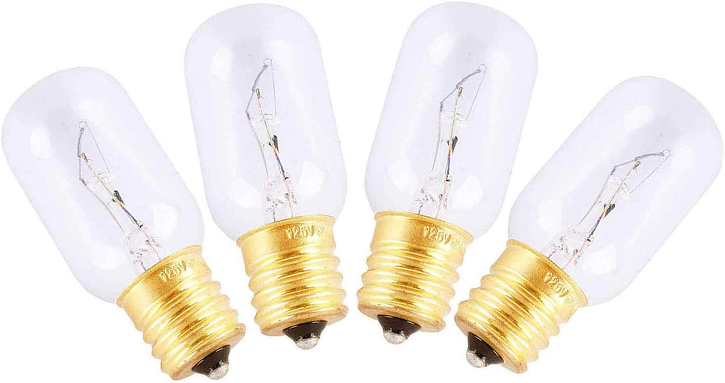 Microwave Bulb 6912W1Z004B,Universal Type Incandescent Lamp,125-Volt 30-Watt Bulb 2pcs
