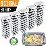 50 Pack- Chefible 28 oz Original Food Storage Container, Meal Prep, Bento, Durable, BPA-free, Reusable, Washable, Microwavable, Perfect for Portion Control!
