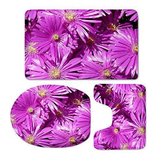 Bath Mat Sets 3 Piece Slip Anti Mould Bathroom Bath Rug For Bathroom Including Pedestal Mat And Toile Wc Carpet 3D Colorful Flower Pattern Bathroom ( Color : D )