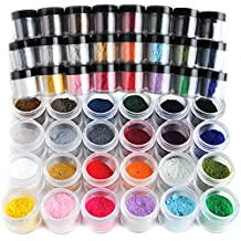Coscelia 24 Colour Jumbo Size Velvet Flocking Powder Velvet Nail Art Polish Tips