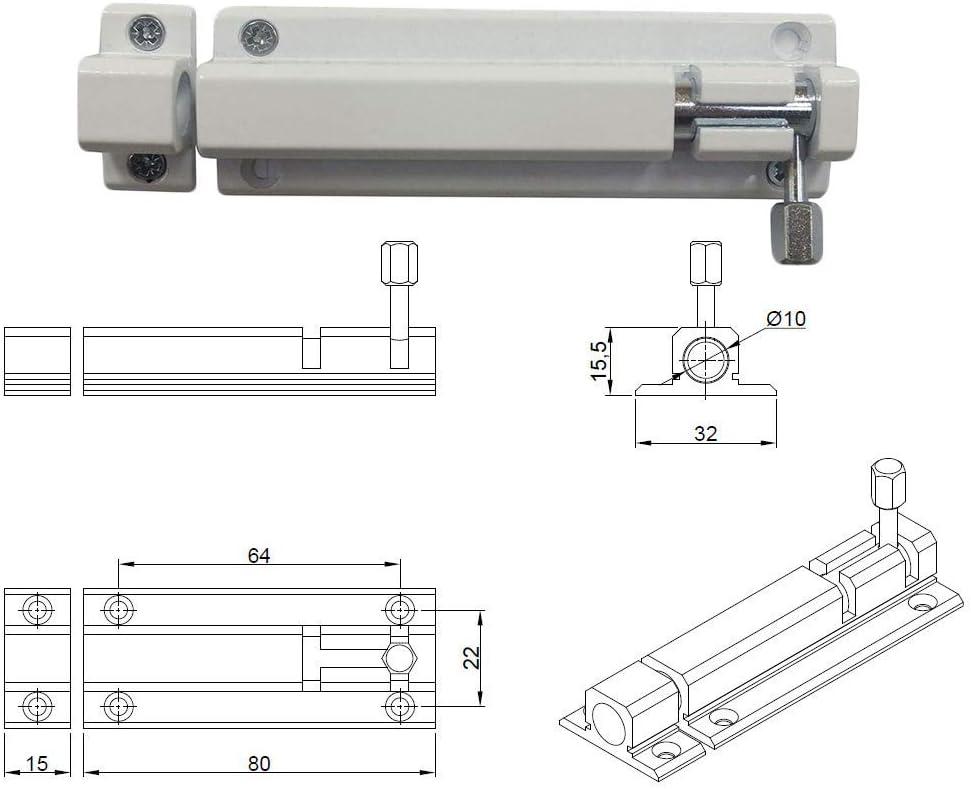 230.00 voltsV GAH-ALBERTS/ /Pestillo para puerta cajones Pestillo Seguridad cerrojo con pasador