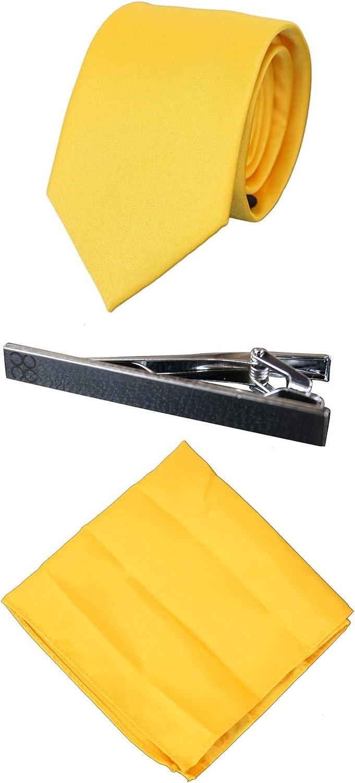 Corbata de seda de satén a juego para hombre Pañuelo de pañuelo y ...