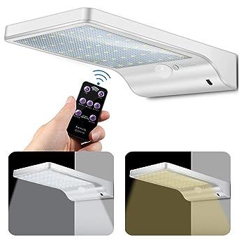 48 LED Lámpara de pared solar, Luz solar Lámpara de exterior con detector de movimiento