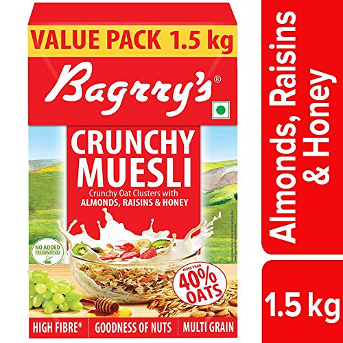 Bagrry's Crunchy Muesli, Oat Clusters with Almonds, Raisins and