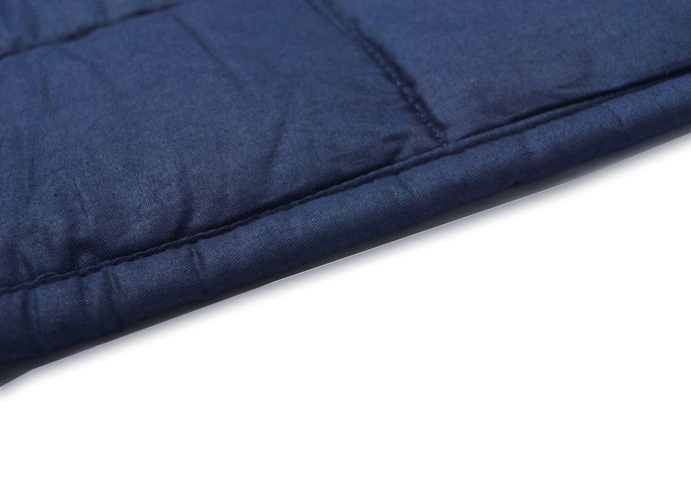 Health Weighted Blanket by Weighted Idea for Adult Women and Men - Occupational Therapy for Anxiety, Insomnia, Agitation, Autism, ADHD - Fits Queen Size Beds - Navy Blue (60''x80'', 17 lbs)