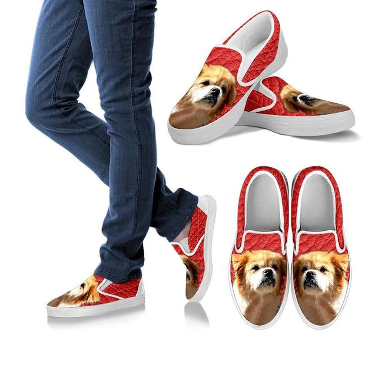 Tibetan Spaniel Print Slip Ons Shoes For Women