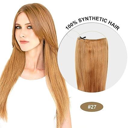"""loverealhair barato 20 """"(secreto libro en extensiones de pelo sintético recto peluca Pelucas"""