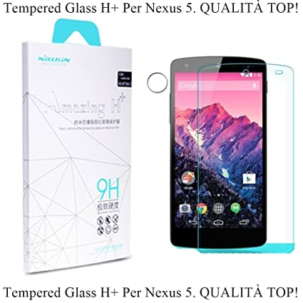 nilkin nikay 9h hardness tempered glass front screen protectors for google nexus 5 retail packaging amazoncom tempered glass