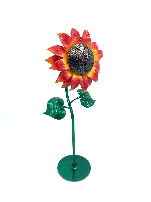Aluma Flowers Handmade Aluminum Sunflower with Base Floral Home D/écor