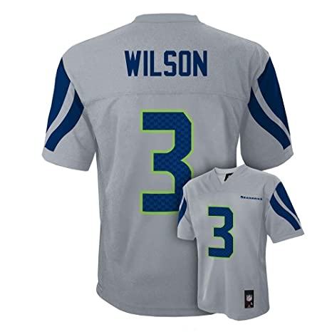 Image Unavailable. Image not available for. Color  NEW Seattle Seahawks  RUSSELL WILSON Grey Youth Boys Jersey ... c4d908a76