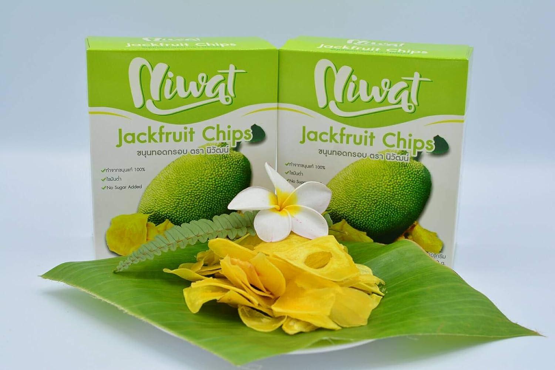 Niwat Jackfruit chips snacks thai food yummy delicious healthy