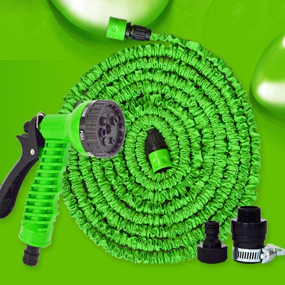 YUIOLIL Garden Hose Expandable 25Ft-200Ft Flexible Water Eu Plastic Pipe With Spray Gun To Watering,75Ft 50FT