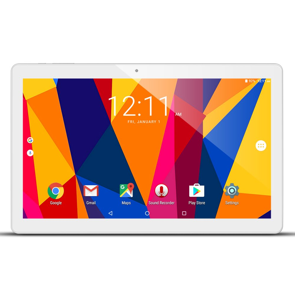 ALLDOCUBE iPlay10 / U83 10.6 inch 1920 x 1080 IPS Display Screen Tablet, Cube Android 6.0 Tablet Quad Core MTK MT8163 64-bit 1.3Ghz, 2GB+32GB, Support 5Ghz + 2.4Ghz WiFi and HDMI Output, White Silver by ALLDOCUBE (Image #1)