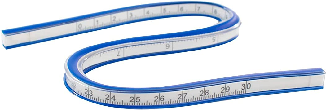 Ruler French Helix 60cm Flexible Curves