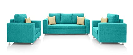 Magnificent Earthwood Fully Fabric Upholstered Sofa Set 3 1 1 Ibusinesslaw Wood Chair Design Ideas Ibusinesslaworg