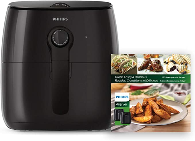 Amazon.com: Philips Premium Analog Airfryer with Fat Removal Technology + Revipe Cookbook, 3qt, Black, HD9721/99: Kitchen & Dining