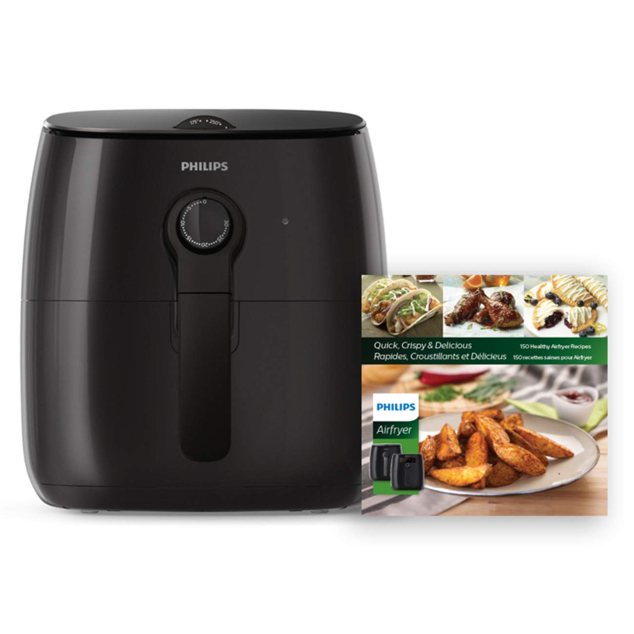 Philips Kitchen Appliances HD9721/99 Philips Airfryer, X-Large, Black