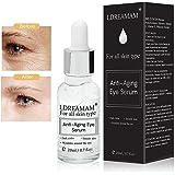 suero para el contorno de ojos, antiedad y antibolsas; también sirve como suero antienvejecimiento para la cara: reduce las líneas de expresión y las arrugas
