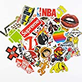KONLOY Cute Stickers Pack,Fashion Brand Stickers for Water Bottle,Teen,Girl,Laptop,Luggage, Car, Skateboard, Motorcycle, Bicycle,Cool Waterproof Vinyl Sticker Graffiti Patches(100Pcs)
