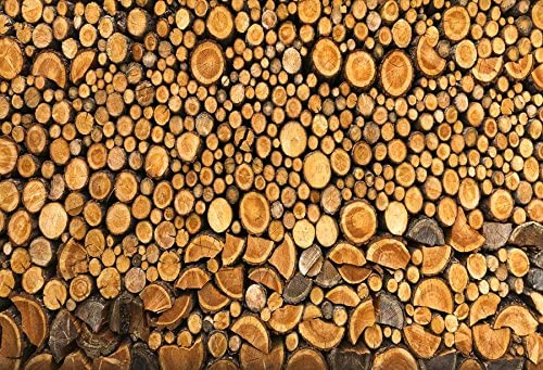 Firewood Texture Backdrop 10x6.5ft Photography Background Wooden Texture Timber Stack Woodpile Backdrops for Photography Natural Scenery Photo Backdrop Winter