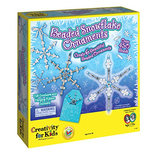 Ornaments Snowflake Beaded (Creativity for Kids Beaded Snowflake Ornaments)