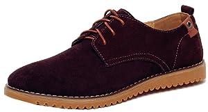 Dadawen Men's Brown(B) Leather Oxford Shoe - 10.5 D(M) US