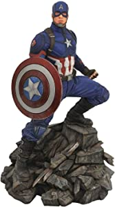 DIAMOND SELECT TOYS Marvel Premier Collection: Avengers Endgame Captain America Statue,Multicolor