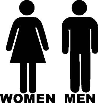 WC uomini e donne ZERBINO cartello adesiva in vinile per Shop ...