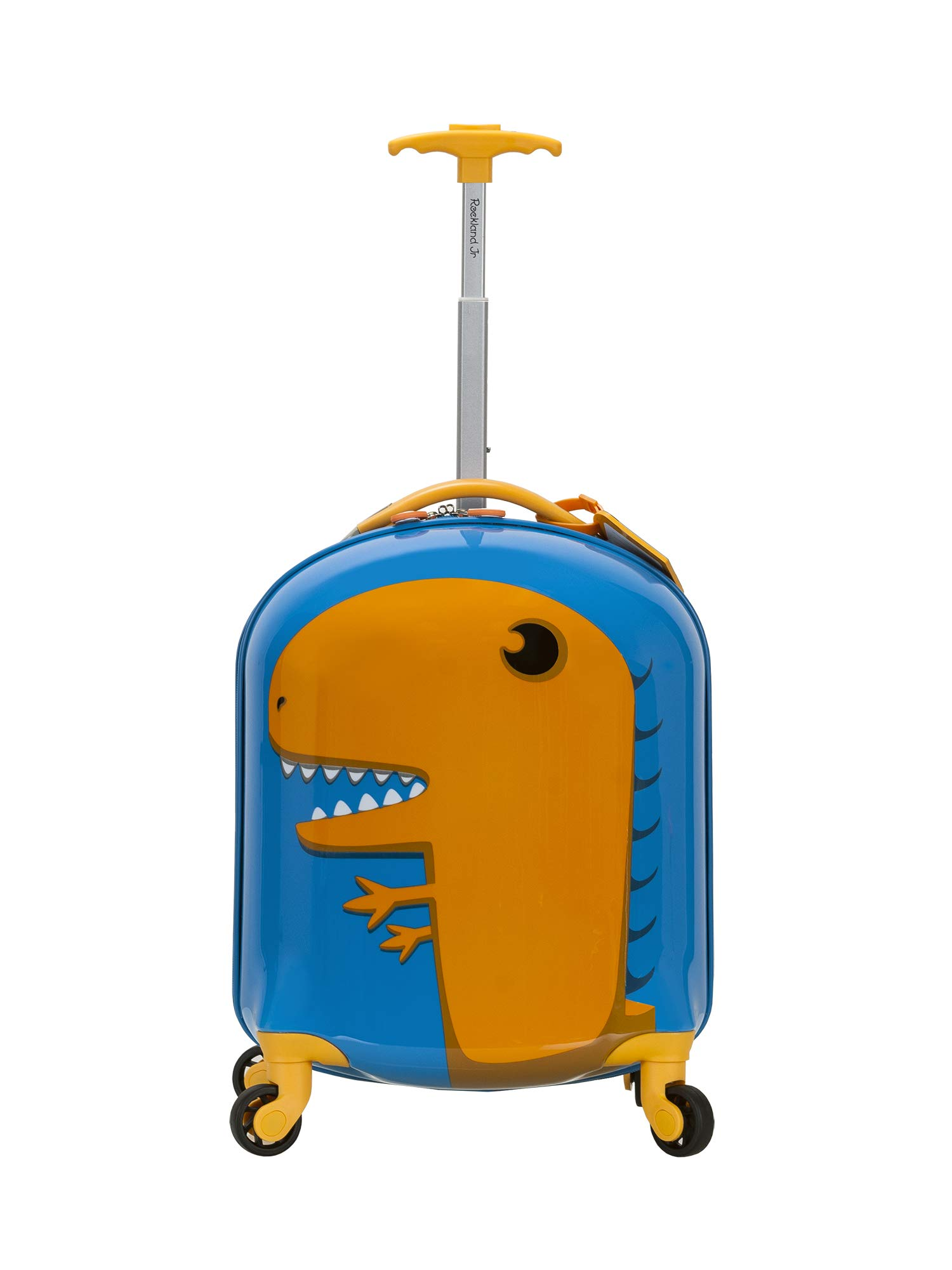 Rockland Jr. Kids' My First Luggage-Polycarbonate Hard Side Spinner, DINOSAUR