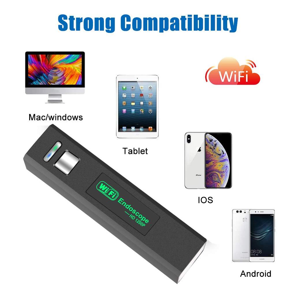 3,0 Megapixel 1200P HD Impermeabile Boroscopio Ispezione con 8 LED regolabili per tablet PC Android iOS Wifi Endoscopio Industriale 5m // 16,5FT