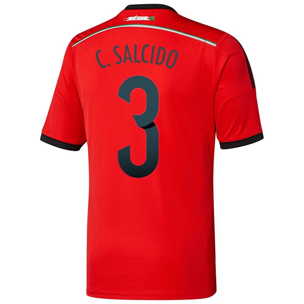 Adidas C. SALCIDO #3 Mexico Away Jersey World Cup 2014/サッカーユニフォーム メキシコ アウェイ用 ワールドカップ2014 背番号3 C.サルシド B00KY4MA6O  Small