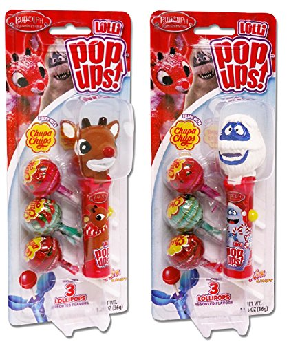 Rudolph The Red-Nosed Reindeer Christmas Pop Ups Lollipop Case (Pack of 2) -