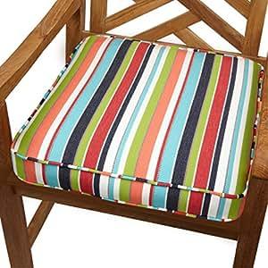 Mozaic Co. Multicolor Rayas para interiores/al aire libre silla de 19pulgadas Cojín con Tejido Sunbrella