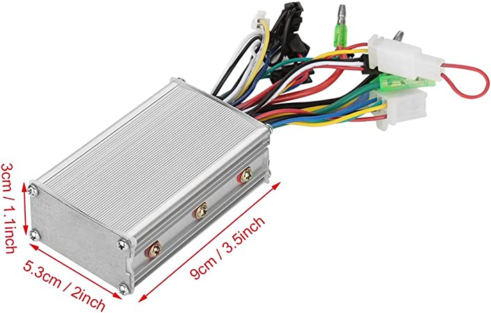 36V 500W Aluminum Alloy EBike Brushed Controller Box Electric Scooter Speed Controller for Electric Scooter Bicycles and Skateboard VGEBY Brushed Controller