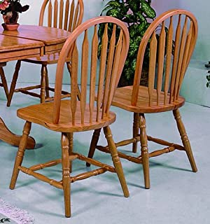 Favorite Amazon.com - Set of 4 Oak Finish Windsor Dining Side Chairs - Chairs BA18