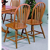 Dark Oak Arrow Windsor Chair (Set of 2) by Crown Mark
