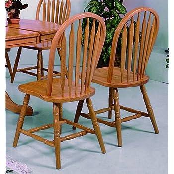 Dark Oak Arrow Windsor Chair (Set of 2) by Crown Mark & Amazon.com - Dark Oak Arrow Windsor Chair (Set of 2) by Crown Mark ...