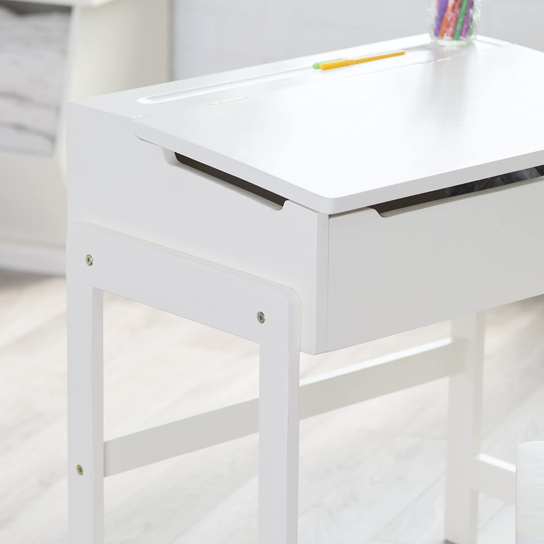 Amazon Lipper Schoolhouse Desk and Chair Set Vanilla